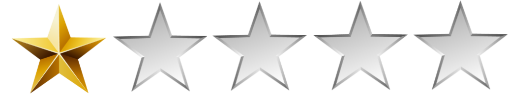 Image result for 1 stars
