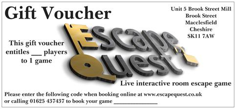 Escape Quest Gift Vouchers